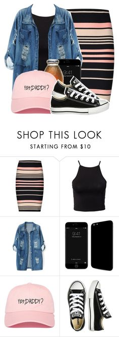 """""""Yes,Daddy"""" by l-ondonbridge ❤ liked on Polyvore featuring Miss Selfridge, Estradeur, Chicnova Fashion and Converse"""