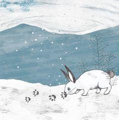 cute rabbit looking for his friend Bunny Rabbit, Hare, Rabbits, Moose Art, Illustration, Artwork, Animals, Art Work, Animales