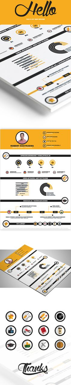 INFOGRAPHIC CV / RESUME / FREE DOWNLOAD on Behance