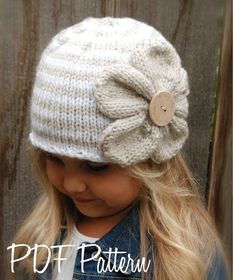 Knitting PATTERN-The Riyan Cloche' Toddler Child di Thevelvetacorn