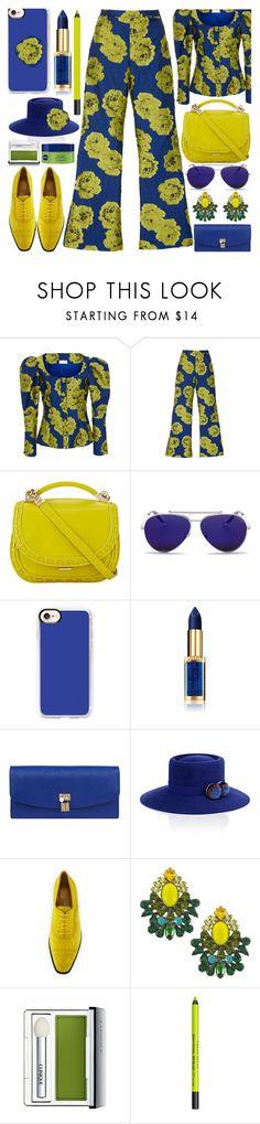 """Mini Bags"" by shoaleh-nia ❤ liked on Polyvore featuring Christian Siriano, Cynthia Rowley, Alexander McQueen, Casetify, L'Oréal Paris, Dolce&Gabbana, YOSUZI, Manolo Blahnik, DANNIJO and Clinique"