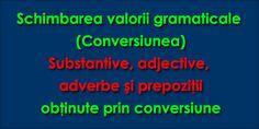 Schimbarea valorii gramaticale Schimbarea valorii gramaticale sau conversiunea este mijlocul intern de îmbogăţire a vocabularului prin care se formează cuvinte noi prin trecerea de la o parte de vorbire la alta. Trecerea aceasta se face fără a modifica forma cuvântului, adică fără a ...