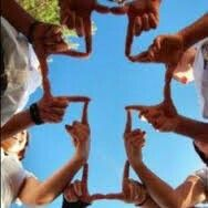 Use fingers to make a Cross