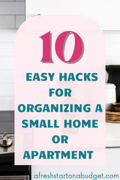 Are you struggling to keep your small home or apartment organized? Here are 10 easy hacks for organizing a small home or organizing your apartment Organizing Your Home, Organization Hacks, Organization Ideas, Declutter, Organize, Bathroom Storage Solutions, Easy Hacks, Small Closet Organization, Budgeting Finances