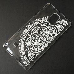 Hand Painted White Mandala clear Samsung Galaxy Note 4 Phone case iPhone 6 Case iPhone 6s plus S5 S4 Sony Xperia Art Henna mehndi Hand Drawn by SnowHennaArt on Etsy https://www.etsy.com/listing/252910239/hand-painted-white-mandala-clear-samsung