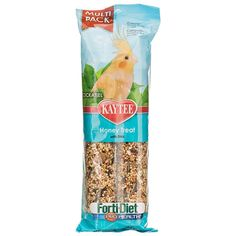 Kaytee Forti Diet Pro Health Value Pack Honey Treat Stick for Cockatiel with DHA Omega-3 to support heart, brain and visual functions are a fun-to-eat way to add nutrition and activity to your pet's diet. Natural prebiotics and probiotics are also added t
