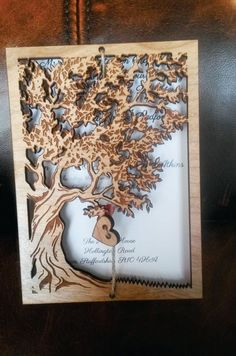 laser cut autumn wedding invitation - Google Search