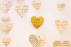 Sewn Book Heart Mobile @ JST Design