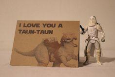 Star Wars Romance or Anniversary Card - Tauntaun.