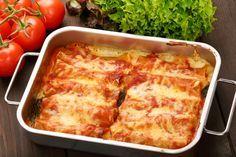 Cannelloni u umaku od rajčice i bešamela Fried Beef, Refried Beans, International Recipes, Gnocchi, Parmesan, Lasagna, Italian Recipes, Macaroni And Cheese, Al Dente
