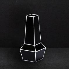 Phil Cuttance Black High Waisted Weld Vase