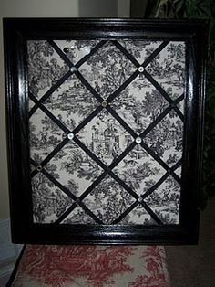 Picture Frame Bulletin Board. This ones one of the better looking ones than ive seen