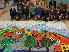 """made in 2014 by Agnes Janssens in collaboration with the children of the primary school """"De kriebel"""" Olen Belgium"""