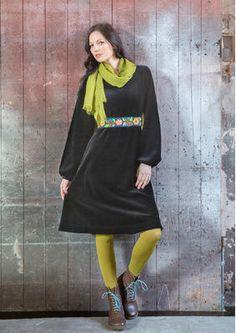Velor dress from organic cotton / polyester 67704-99.jpg sizes S - XXL