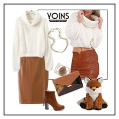"""""""A Little Fox"""" by ul-inn ❤ liked on Polyvore featuring Monica Vinader, women's clothing, women, female, woman, misses, juniors and yoins"""