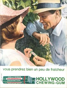 Hollywood chewing-gum - Jours de France, 25 août 1962