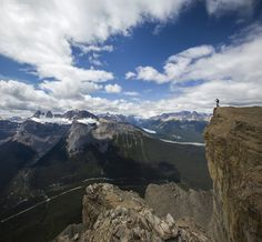 Pokemon Gone - Chasing alpine Pokemons. Self-portrait, Banff National Park.