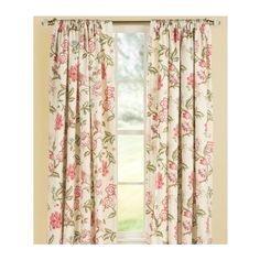 Country Curtains Bird in Paradise Lined Rod Pocket Curtains - 84 L ($270) ❤ liked on Polyvore featuring home, home decor, window treatments, curtains, blue, floral home decor, pole pocket curtains, country home decor, country window treatments and blue curtains