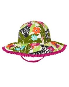 GYMBOREE WILD FOR ZEBRA SAFARI PRINTED SUN HAT 0 12 24 2T 3T 4T 5T NWT-OT in Clothing, Shoes & Accessories, Baby & Toddler Clothing, Baby Accessories   eBay