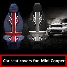 Luxury Union Jack Uk Flag 3D Ice Slik PVC Car seat covers for BMW Mini Cooper F56 F55 R60 R59 R61 hatchback clubman countryman