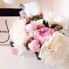 Chanel + peonies.