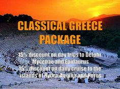 This package includes:  + Accommodation (3 nights minimum stay) + American buffet breakfast + 15% discount on the guided day trips to Delphi or Mycenae-Epidaurus + 15% discount on the daily cruise to the islands of Hydra, Aegina and Poros + 10% discount on meals at the Atrium restaurant + One free use of the jacuzzi + Free WiFi internet access for your entire stay + Complimentary late check-out until 16.00 upon availability  Claim an offer [at] http://www.herodion.gr/main.php