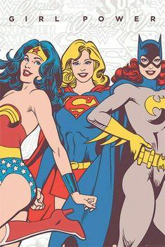 Girl Power!  Wonder Woman, Supergirl, and Batgirl.