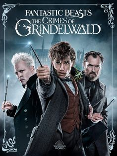 Newt Scamander is enlisted by Hogwarts Professor Albus Dumbledore to battle Dark wizard Grindelwald, whose plan to rule over non-magical beings threatens to divide the wizarding world. Fantastic Beasts Poster, Fantastic Beasts And Where, Gellert Grindelwald, Crimes Of Grindelwald, Jay Baruchel, New Movies 2020, Hd Movies, Movies Free, Latest Movies