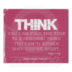 Pink Denim #Fitness #Quote to Think Fit