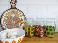 Vintage kitchenware sits nicely next to Orla jars