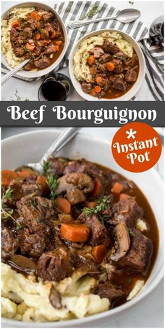 Frugal Food Items - How To Prepare Dinner And Luxuriate In Delightful Meals Without Having Shelling Out A Fortune Instant Pot Beef Bourguignon Recipe From Korma, Biryani, Instant Pot Beef Bourguignon Recipe, Beef Recipes, Cooking Recipes, Chicken Recipes, Comfort Food Recipes, Pressure Cooker Recipes Beef, Copycat Recipes