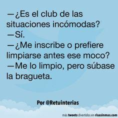 El club de las situaciones incómodas. #humor #risa #graciosas #chistosas #divertidas