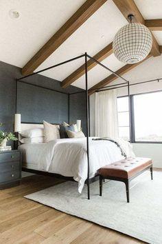 Navy Master Bedroom, Master Bedroom Design, Bedroom Sets, Home Decor Bedroom, Bedroom Wall, Master Suite, Bedroom Furniture, Bed Room, Casual Bedroom