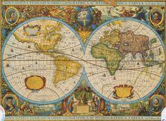 Mapamundi histórico 1606      Henri Hondio