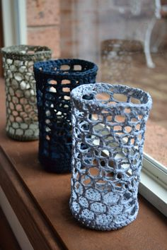 Crocheted vases