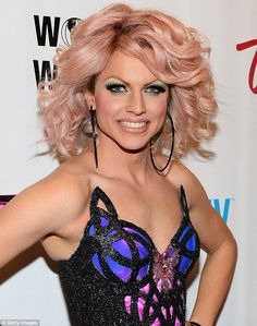 Courtney Act (real name Shane Jenek) - The Australian drag queen sported bold black eye makeup and voluminous blonde curls for the event