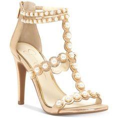 Jessica Simpson Eleia Pearl-Studded Dress Sandals