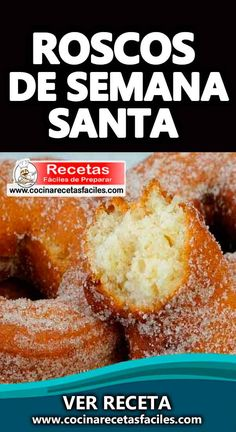 Receta de roscos de Semana Santa A typical pastry from Andalusian cuisine, common in the Lenten season. In some localities it is customary to make the donuts simultaneously with the Lenten stew. made recepies recipes Donut Recipes, Bread Recipes, Cookie Recipes, Flan, Easter Recipes, Sin Gluten, Bread Baking, Donuts, Easy Meals