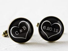 Wedding Cufflinks  Personalized with Bride by MickyChaseJewelry, $42.00