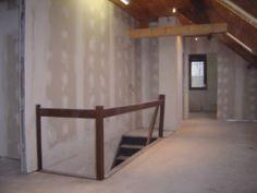 gyproc wanden en isolatie op zolder voor inrichten van 3 kinderkamers en een badkamer