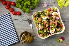 French Cuisine: 40 Salad With Tuna Ideas - Food Healthy Salads, Healthy Eating, Healthy Recipes, Tasty Meals, Keto Recipes, Salad Toppings, Fat Burning Foods, Budget Meals, Salad Recipes