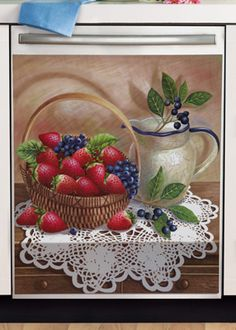 Strawberry Kitchen Decorative Dishwasher Cover