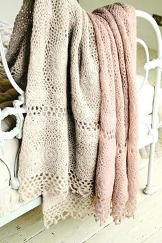 crocheted throws ~ beautifully made ❀  ~  ◊  photo orig. via joy pure & simple • rhubarb in the garden blogspot