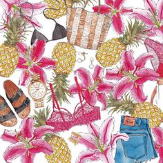 Uruguayan artistValeria Rienziuses watercolors as a medium toillustrate her most prizedcloset staples as well as fashion's most coveted items. The details are so spot on and their bit of whimsy makes me wanna gazeat these images all day long. Thankfully, her Instagramfeed is full of