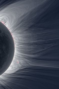 """Solar eclipse from the moon- zerostatereflex: Detailed View of a Solar Eclipse Corona """"Only in the fleeting darkness of a total solar eclipse is the light of the solar corona easily visible."""""""