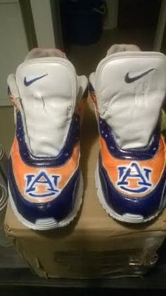 Auburn shoe airbrushed 7