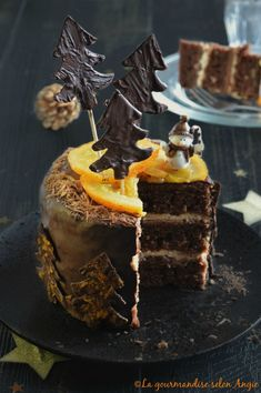 layer cake chocolat orange noël vegan http://www.la-gourmandise-selon-angie.com/archives/2015/12/02/33012496.html