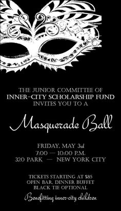 Halloween Masquerade Ball Invitations