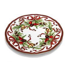 Tiffany Holiday™ dinner plate in porcelain.   Tiffany & Co.