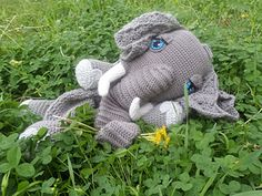 Ellie the elephant lovey blanket crochet pattern (not free)